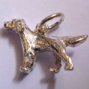 Sterling Silver Retriever Charm